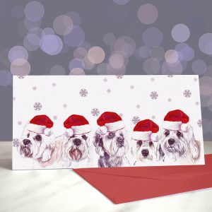 Dinmonts Are a Girl's Best Friend Greeting Cards (Christmas)