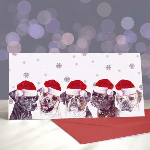 Every Day I'm Pugglin' – Puggles – Greeting Cards (Christmas)