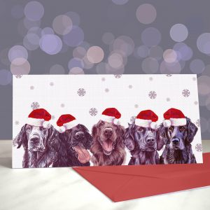 Flat Bottomed Girls – Flat Coated Retriever – Greeting Cards (Christmas)