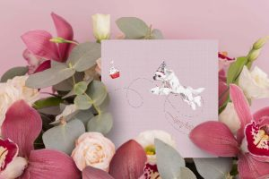 Chinese Crested Greeting Card – Hoppy Birthday