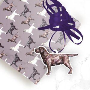 Chocolate Labrador Retriever – Shaped Gift Tags (Pack of Three)