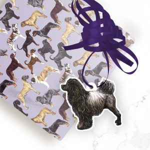Portuguese Water Dog – Brown – Shaped Gift Tags (Pack of Three)