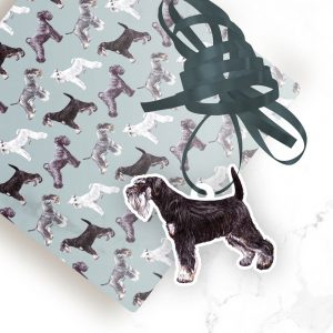 Miniature Schnauzer Black and Silver – Shaped Gift Tags (Pack of Three)