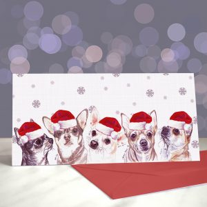 I Found Myself a Chihleader – Smooth Chihuahua Greetings Card (Christmas)