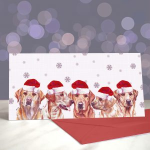 Let's Get Reddy to Rumble – Fox Red Labradors – Greeting Cards (Christmas)
