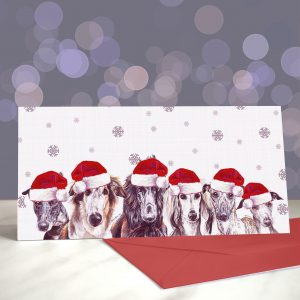 Love at First Sighthound Greetings Card (Christmas)