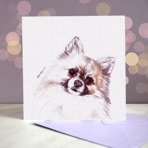 Pomeranian – Greeting Card