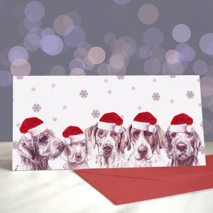 P.S. I Rough You – Slovakian Rough Haired Pointer Greeting Cards (Christmas)