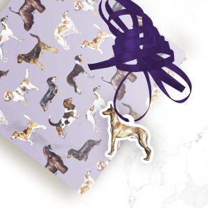 Pharaoh Hound – Shaped Gift Tags (Pack of Three)