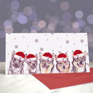 Why Don't You Come On Over Vallhundrie Greetings Card (Christmas)