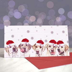 Yellow From the Other Side – Yellow Labradors – Greeting Cards (Christmas)