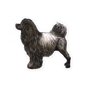 Portuguese Water Dog – Brown – Stickers