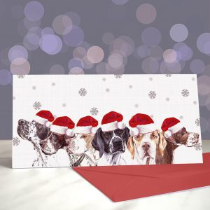 Pointers, Pointers Running Through My Veins Greeting Cards (Christmas)