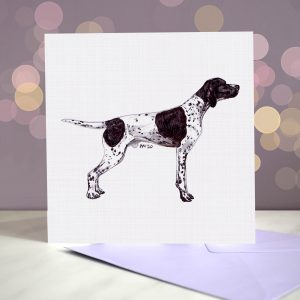 English Pointer (Black and White) – Greeting Card – Stack
