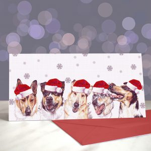 Smooth Collie Criminals Greeting Cards (Christmas)