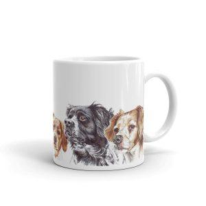 Brittanys in Berets – Mug