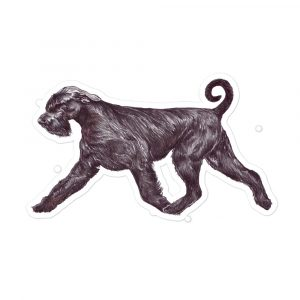 Giant Schnauzer – On the Move – Stickers